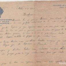Sellos: LOTE A- CARTAS CAJA DE PENSIONES PALMA DE MALLORCA Y MAHON 1940. Lote 206303332