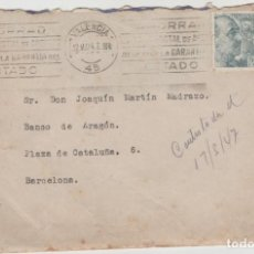 Sellos: LOTE A- SOBRE SELLOS VALENCIA RODILLO 1947. Lote 206304563
