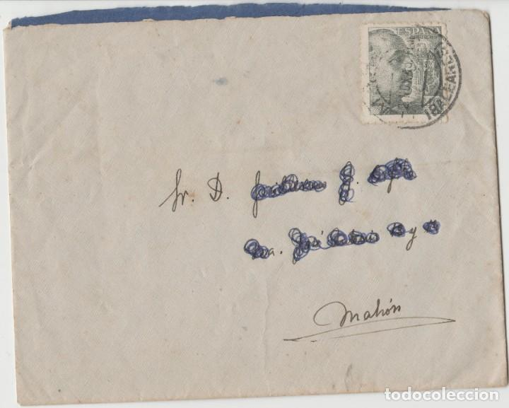 LOTE A- MATA SELLOS SOBRE 1945 BARCELONA (Sellos - España - II República de 1.931 a 1.939 - Cartas)