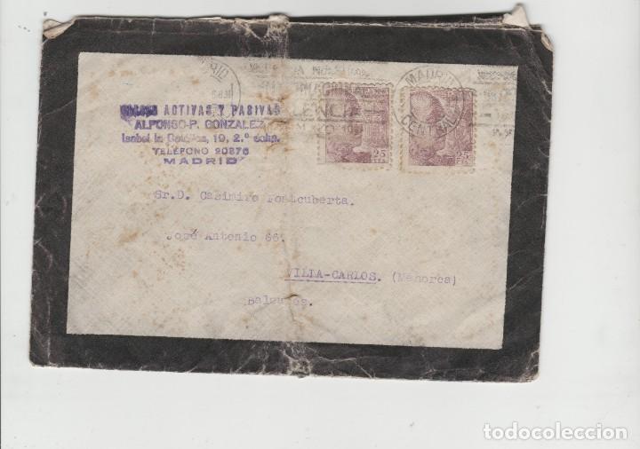 LOTE A- MATA SELLOS SOBRE 1946 MADRID (Sellos - España - II República de 1.931 a 1.939 - Cartas)