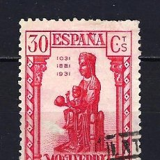Sellos: 1931 ESPAÑA EDIFIL 643 FUNDACIÓN CENTENARIO MONASTERIO DE MONTSERRAT USADO. Lote 206435881