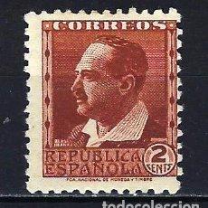 Sellos: 1932-1934 ESPAÑA EDIFIL 662 PERSONAJES MH* NUEVO CON FIJASELLOS. Lote 206806283