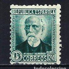 Sellos: 1932-1934 ESPAÑA EDIFIL 665 PERSONAJES MLG* NUEVO SIN GOMA LIGERA SEÑAL DE FIJASELLOS. Lote 206806538