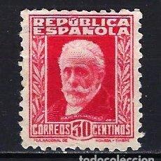 Sellos: 1932-1934 ESPAÑA EDIFIL 669 PERSONAJES MLG* NUEVO SIN GOMA LIGERA SEÑAL DE FIJASELLOS. Lote 206806760