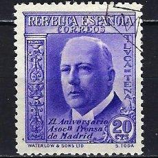 Sellos: 1936 ESPAÑA EDIFIL 700 ASOCIACIÓN DE LA PRENSA USADO. Lote 206808081