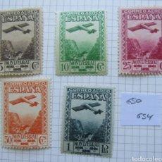 Sellos: ESPAÑA, N°650/54 MH, MONTSERRAT AÉREA 1931 (FOTOGRAFÍA REAL). Lote 206990287