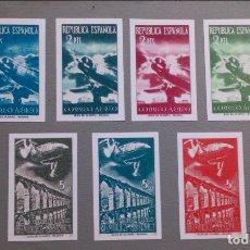 Sellos: ESPAÑA - 1939 - II REPUBLICA - EDIFIL NE39S/45S-F - SIN DENTAR - SERIE COMPLETA - (*) - NUEVOS.. Lote 207029741