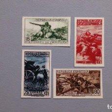 Sellos: ESPAÑA-1938-II REPUBLICA- EDIFIL NE 55A/NE 55D-F- SERIE COMPLETA-(*)- NUEVOS +CP.CERTIFICADO COMEX. Lote 207031808