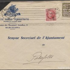 Sellos: 1936 SOBRE PUBLICITARIO BARCELONA PALAFOLL. VIÑETA BARCELONA. Lote 207180147