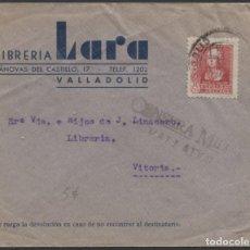 Sellos: 1938 SOBRE PUBLICITARIO VALLADOLID VITORIA. CENSURA. LLEGADA. Lote 207185683