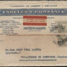 Sellos: 1939 TARJETA PUBLICITARIA MENDARO SANTANDER. FACTORIA MILITARIZADA. Lote 207186773