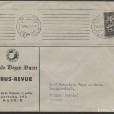 Sellos: 1947 TARJETA PUBLICITARIA MADRID TOTANA. SELLO DEL QUIJOTE. Lote 207276777