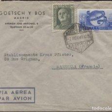 Sellos: 1949 SOBRE PUBLICITARIO MADRID MARSELLA CORREO AÉREO. Lote 207278683