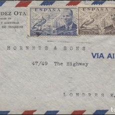 Sellos: 1950 SOBRE PUBLICITARIO CORREO AÉREO TENERIFE . LLEGADA. Lote 207279300