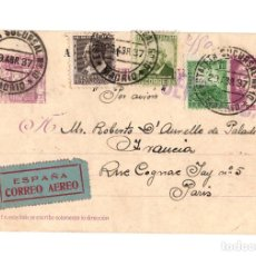 Sellos: ENTERO POSTAL. REPÚBLICA.15C. CIRCULADA MADRID-FRANCIA.MARCA CENSURA, CORREO AÉREO. SELLOS REPÚBLICA. Lote 207288816