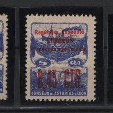 Timbres: R75 .B1/ ESPAÑA 1937, ASTURIAS Y LEON, NE 9/11 MNH**, MUY BONITA SERIE. Lote 208942328
