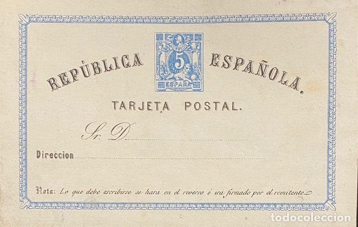 SEGUNDA REPÚBLICA ESPAÑOLA, TARJETA ENTERO POSTAL Nº 1 (Sellos - España - II República de 1.931 a 1.939 - Cartas)