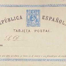 Timbres: SEGUNDA REPÚBLICA ESPAÑOLA, TARJETA ENTERO POSTAL Nº 1. Lote 209317167