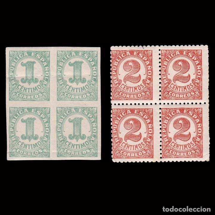 1933. CIFRAS. SERIE.BLQ4.MNH EDIFIL. 677-678 (Sellos - España - II República de 1.931 a 1.939 - Nuevos)
