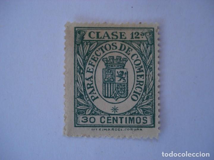TIMBRE EFECTOS COMERCIO CLASE 12 30 CTS (Sellos - España - II República de 1.931 a 1.939 - Usados)