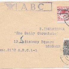 Sellos: EDIFIL 598 - 663. FAJA DEL PERIODICO ABC CIRCULADA DE MADRID A LONDRES. 1932. Lote 210465396