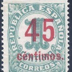 Sellos: EDIFIL 742 CIFRAS 1938 (VARIEDAD...742HC HABILITACIÓN CALCADA EN EL REVERSO). LUJO. MNH **. Lote 210587258