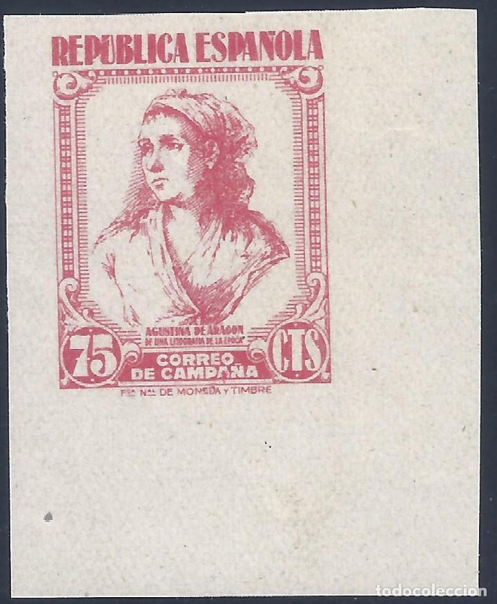 EDIFIL NE 53S CORREO DE CAMPAÑA 1939. SIN DENTAR. LUJO. VALOR CATÁLOGO: 60 €. MLH. (Sellos - España - II República de 1.931 a 1.939 - Nuevos)