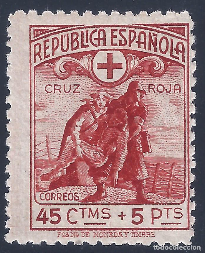 EDIFIL 767N CRUZ ROJA ESPAÑOLA 1938 (VARIEDAD...MUESTRA A000,000) VALOR CATALOGO: 92 €. LUJO. MNH ** (Sellos - España - II República de 1.931 a 1.939 - Nuevos)