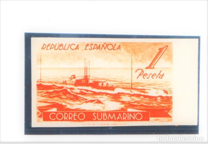 1938 CORREO SUBMARINO REPÚBLICA ESPAÑOLA 775CCAS NUEVO CON CHARNELA Y MARQUILLA A.ROIG (Sellos - España - II República de 1.931 a 1.939 - Nuevos)