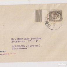 Sellos: SOBRE. REUS. TARRAGONA. 1934. SELLO RAMÓN Y CAJAL, BORDE DE HOJA. Lote 211498354