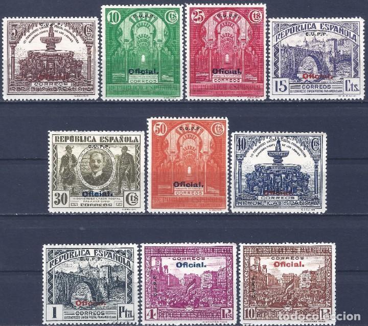 EDIFIL 620H-629H CONGRESO DE LA UNIÓN POSTAL 1931 (HAB. C.U.P.P.) VALOR CAT. ESPEC.: 300 €. MLH. (Sellos - España - II República de 1.931 a 1.939 - Nuevos)