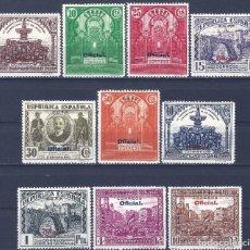 Sellos: EDIFIL 620H-629H CONGRESO DE LA UNIÓN POSTAL 1931 (HAB. C.U.P.P.) VALOR CAT. ESPEC.: 300 €. MLH.. Lote 211615911