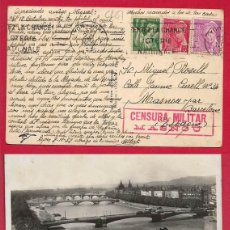 Sellos: X9 CENSURA MILITAR MASNOU SOBRE POSTAL FRANCESA DE LYON CON FECHA 9 DEL 11 DE 1939. Lote 211662833
