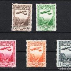 Sellos: 1931 SERIE COMPLETA AÉREO MONTSERRAT EDIFIL 650/54 NUEVA SIN FIJASELLOS Y CON GOMA. Lote 213015436