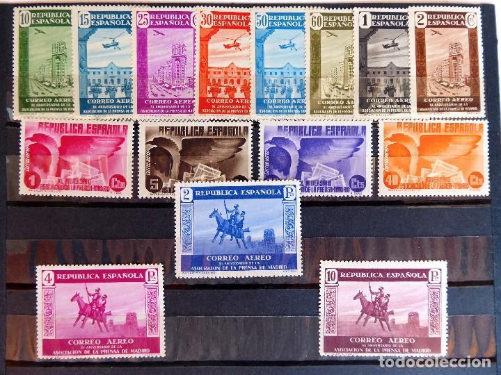 SELL-13. XL ANIVERSARIO DE LA ASOCIACION DE LA PRENSA. AÑO 1936. COMPLETA EDIFIL 711/725. MNH (Sellos - España - II República de 1.931 a 1.939 - Nuevos)