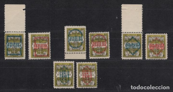 1931 AYUNTAMIENTO DE BARCELONA SOBRECARGADO SERIE COMPLETA VC 175,00€ (Sellos - España - II República de 1.931 a 1.939 - Nuevos)