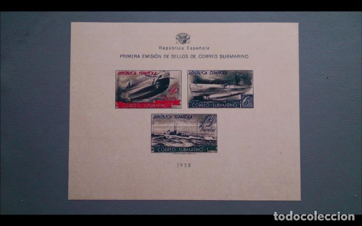 ESPAÑA - 1938 - II REPUBLICA - EDIFIL 781S -F - SIN DENTAR - MNG - NUEVA - CORREO SUBMARINO. (Sellos - España - II República de 1.931 a 1.939 - Nuevos)