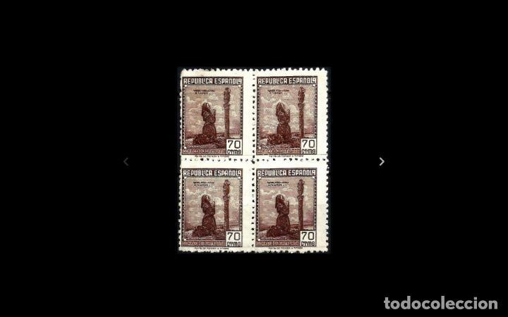 ESPAÑA - 1939 - II REPUBLICA - EDIFIL NE 52 - BLOQUE DE 4 - MNG - NUEVOS - VALOR CATALOGO 175€. (Sellos - España - II República de 1.931 a 1.939 - Nuevos)