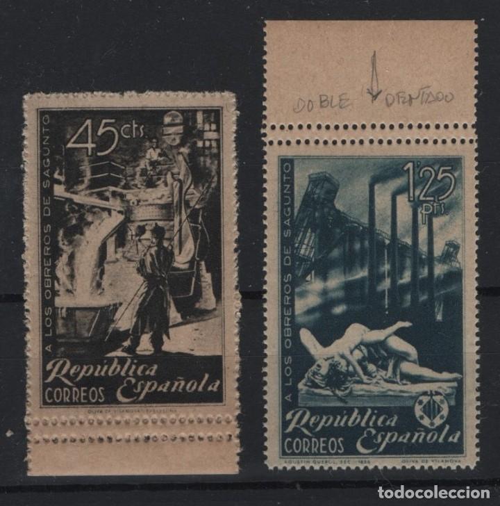 R75/ ESPAÑA 1938, EDIFIL 773DDD Y 774**, PRECIOSA SERIE DENTADO DOBLE HORIZONTAL (Sellos - España - II República de 1.931 a 1.939 - Nuevos)