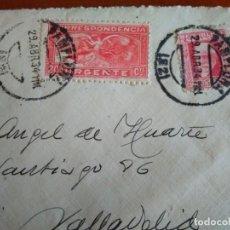 Timbres: SOBRE CON SELLOS DE LA SEGUNDA REPÚBLICA Y DE CORRESPONDENCIA URGENTE - 1934 PAMPLONA. Lote 217153147