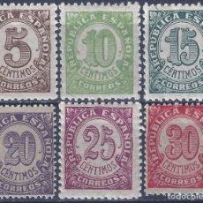 Sellos: EDIFIL 745-750 CIFRAS. 1938 (SERIE COMPLETA). EXCELENTE CENTRADO. MNH **. Lote 217598008