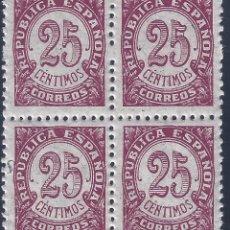 Sellos: EDIFIL 749 CIFRAS 1938 (BLOQUE DE 4). MNH **. Lote 217609806