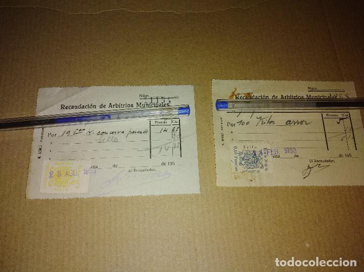 Sellos: lote 2 sellos locales fuente obejuna cordoba arbitrios municipales recibos 1953 leer ver imagen - Foto 2 - 217721662
