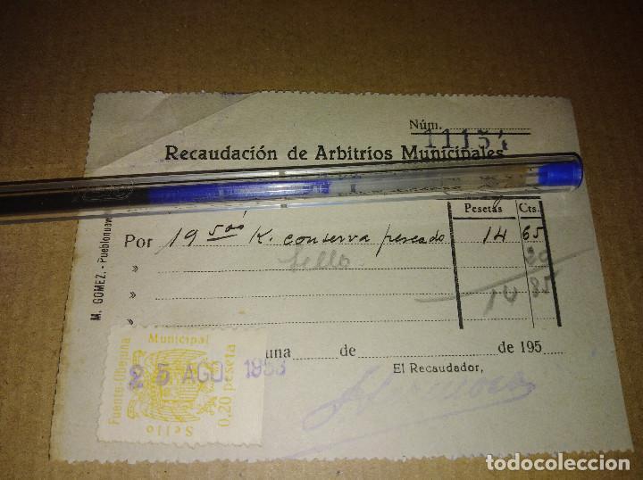 Sellos: lote 2 sellos locales fuente obejuna cordoba arbitrios municipales recibos 1953 leer ver imagen - Foto 3 - 217721662