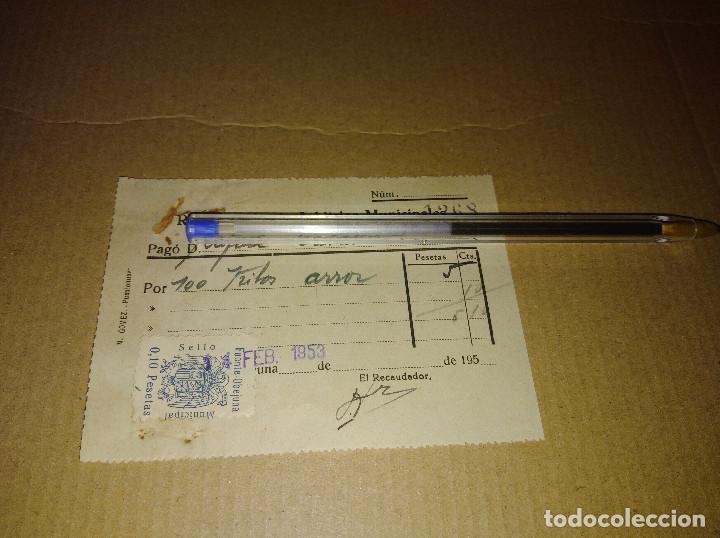 Sellos: lote 2 sellos locales fuente obejuna cordoba arbitrios municipales recibos 1953 leer ver imagen - Foto 4 - 217721662
