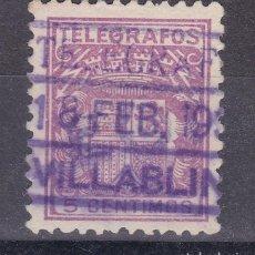 Timbres: LL4- TELÉGRAFOS USADO VILLABLINO (LEÓN). Lote 218211835