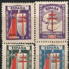 Sellos: EDIFIL 970/973 PRO TUBERCULOSOS DE 1943 -. Lote 218574511