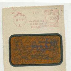 Timbres: FRANQUEO MECANICO 1934 BANCO HISPANO AMERICANO MADRID. Lote 218613278