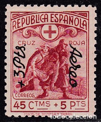 ESPAÑA.- SELLO Nº 768 CRUZ ROJA SOBRECARGADO NUEVO CON CHARNELA. (Sellos - España - II República de 1.931 a 1.939 - Nuevos)