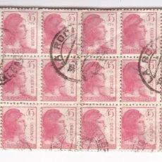 Sellos: HP4-4- REPUBLICA EDIFIL 752. BLOQUE DE 30 USADOS LA RODA (ALBACETE). Lote 218899543